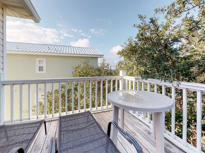 Photo for Gulf view home w/ 2-level deck, beach access & shared pools/hot tub/gym!