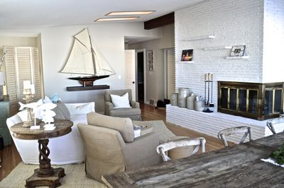 a bit of rustic elegance in the living room upper level