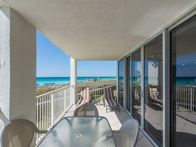 Photo for Shoreline Towers Unit 1021 is just a few steps from the beach and Gulf.