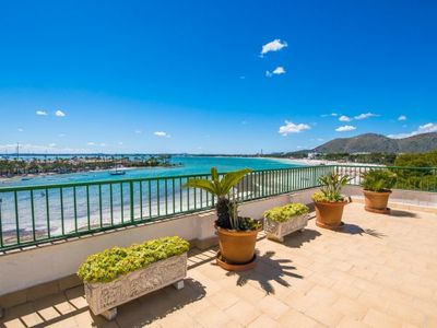 Photo for Port d'Alcudia Apartment, Sleeps 2 with Air Con and WiFi