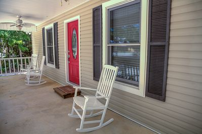 Start your morning off on the rocking chair front porch.