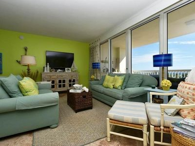 Photo for Brightly Decorated Beachfront Condo: Spacious Bedrooms! Includes Beach Service