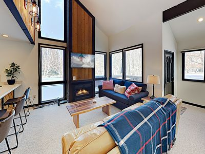 Photo for New Listing! Chic Condo w/ Hot Tub & Heated Pool - Walk to Ski Lifts