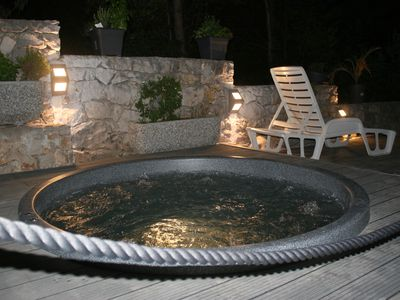 Photo for My Hot tube for 5 + 2 people