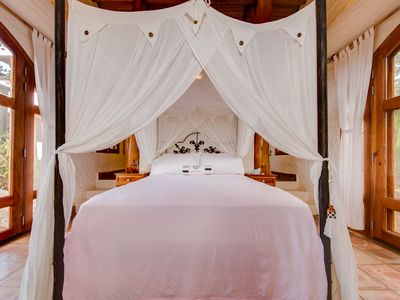 Photo for Luxury romantic honeymoon suite, 4-post bed, private garden bathtub and views!
