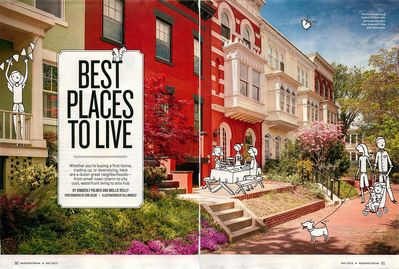 Feature story from the Washingtonian Magazine with our home featured.
