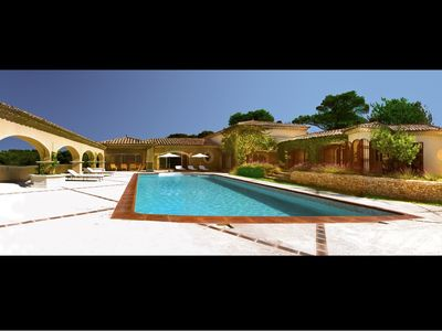 Photo for Hacienda Provençal - Indoor and outdoor heated pool, sauna, jacuzzi