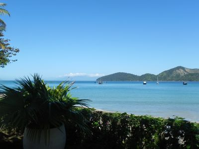 Photo for Excellent house, 4 meters from the sand, magnificent view on the Beach of the Cove Ubatuba