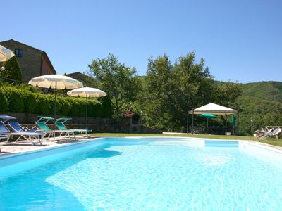 Photo for 8 people villa with private pool and garden. Free Wi-Fi, Pets are welcome. Position panoramic and qu