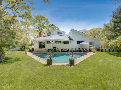 Photo for Relaxing East Hampton Home with Heated Pool + Water Access  + Chef's Kitchen