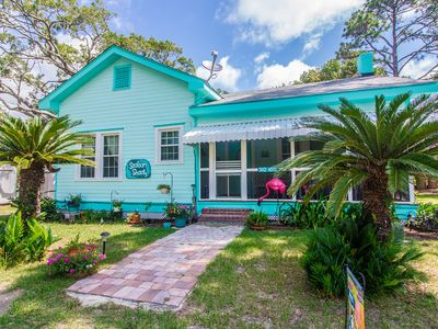 Photo for Seafoam Shanty c1940. Pet friendly. 3 blocks to beach. Screened porch.