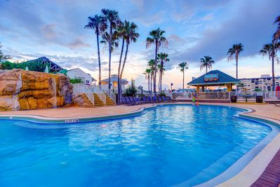 Enjoy Heated pool open all year long and drinks from the Cruzan Rum Shack