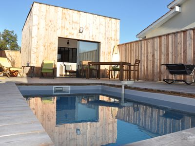 Photo for The Humoise individual cabin with private pool
