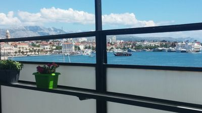 Photo for Apartment with amazing view of old town and sea