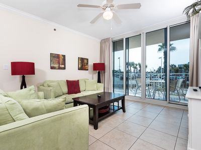 Photo for Spacious ground-floor condo at Waterscape! Free beach service! 490 feet of pristine, private beach!