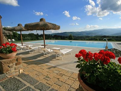Photo for Luxury Villa located in a panoramic position private heated pool extensive park
