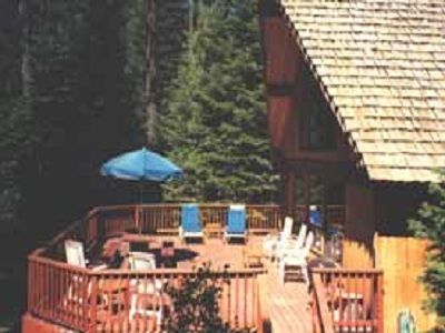 Photo for A super cabin on Tahoe's West Shore with PRIVATE BEACH RIGHTS. Up against forest