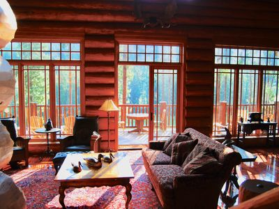 Photo for Panorama Private Log Home