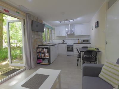 Photo for Contemporary 2b Granite Stone Bungalow, St Ives, Within 100 Acre Woodland
