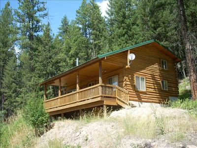 Photo for Picturesque Montana Log Cabin Overlooking the Nine Mile Creek