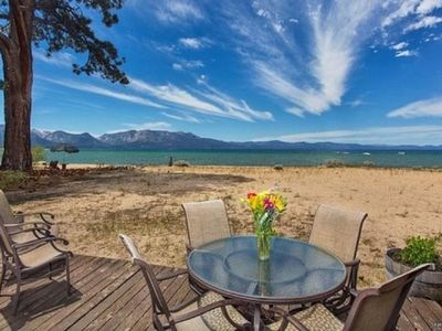 Photo for 3999B- Tahoe Beach Front- Sandy Beach Front Home