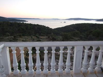 Photo for Two bedroom apartment with terrace and sea view Seget Vranjica, Trogir (A-18138-d)