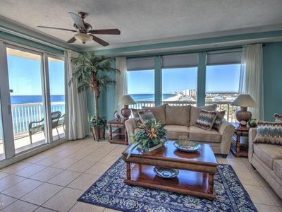 Photo for Beautiful beach front condo with wrap around balcony!