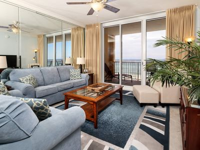 Photo for Gulf Front Condo! Sleeps 8, Fun Amenities, Nearby Shopping and Dinning!