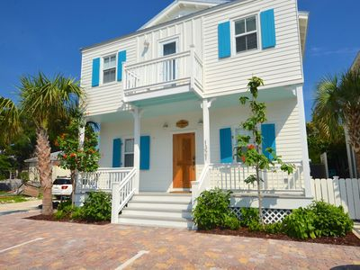 Photo for New home w/ private pool & rooftop patio - ideal location & steps from beach!