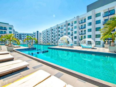 Photo for 4 person flat Pool View - Beach Resort close to Walking Street