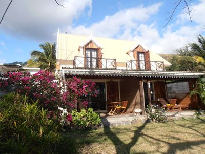 Photo for Le Morne Beach Cottage  - beach front cottage at kite and surfspot