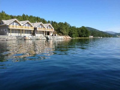 Photo for Holiday house for 6 persons with panoramic view - directly at the fjord