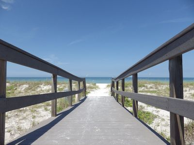 Photo for HARBOR HOUSE BEACH RETREAT - 1/1 FIRST FLOOR CONDO JUST STEPS TO SUNSET BEACH!