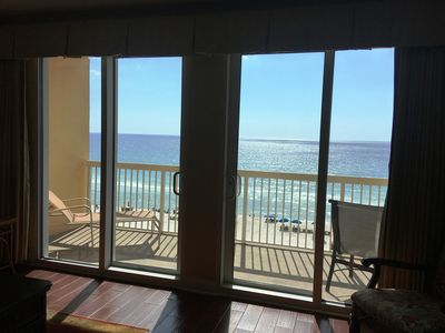 Photo for Free beach service- Low 5th Floor-1293 sq-GulfFront Master Bedroom-Pier Park