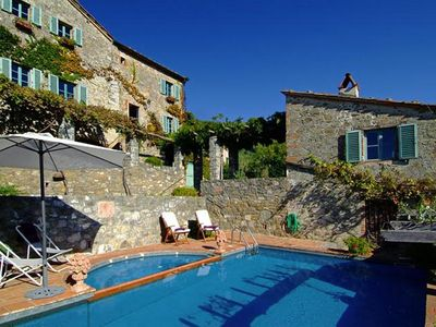 Photo for STUNNING VILLA, POOL, SPECTACULAR VIEWS IN THE HILLS ABOVE  LUCCA 5 bedroom 5 ba