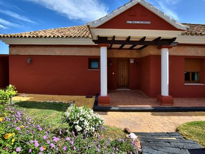 Photo for Detached villa with private garden, heated swimming pool and sauna