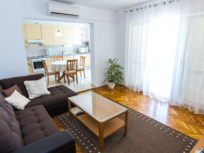 Photo for Two bedroom apartment with balcony and sea view Zadar (A-5773-a)