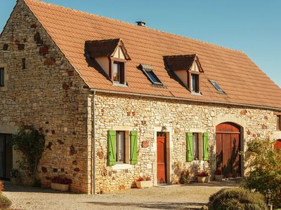 Photo for Rural detached holiday home with garden and magnificent view in France
