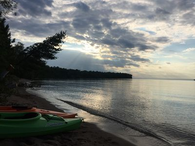 Photo for Lake Superior Ice/Sea Caves Bay Lodging. Near Apostle Islands & Bayfield