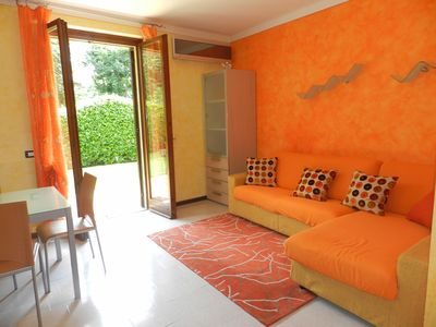 "Photo for COZY TWO-ROOMS APARTMENT ""AMBRA"" IN LAZISE, POOL, AIRCO, WIFI, GARDEN"