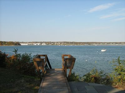 Photo for Oak Bluffs Waterfront Cottage with Private Beach