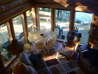 Photo for Vacation home 97MF Lakefront Cabin w/Private Dock in Maple Falls - 6 persons, 3 bedrooms