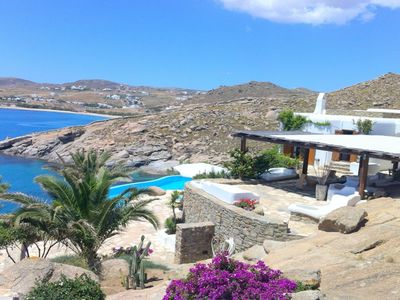 Photo for Best Location Villa Costa Mykonos with Private Bay and Private Deck 4 Bedrooms, 4 Bathrooms Up to 8 Guests