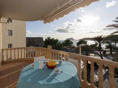 Photo for Spacious flat, see view, Moraira center.
