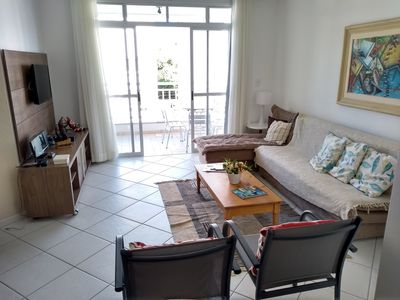 Photo for Beautiful 3 bedroom apartment in Jurerê 2 blocks from the beach