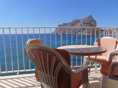 Photo for Ifach3 - Apartment on the seafront with spectacular sea views