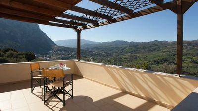 Photo for Budget Villa Louloudis for Families w/ Private Pool+ BBQ + Children Area & views