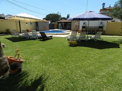 Photo for Air-Conditioned Home with Pool, Terrace, Garden & Wi-Fi; Parking Available