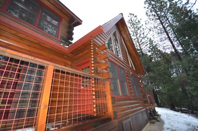 Custom details of this Log Cabin will blow your mind!