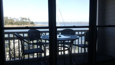 Photo for WATERFRONT Condo in Historic District Overlooks Manteo Harbor!